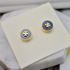 Tory Burch Vintage Enamel Logo Earrings